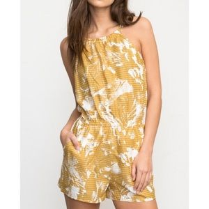 summery yellow romper from rvca